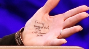 Palin's Crib Notes on Hand