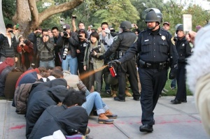 Occupy: pepper sprayed
