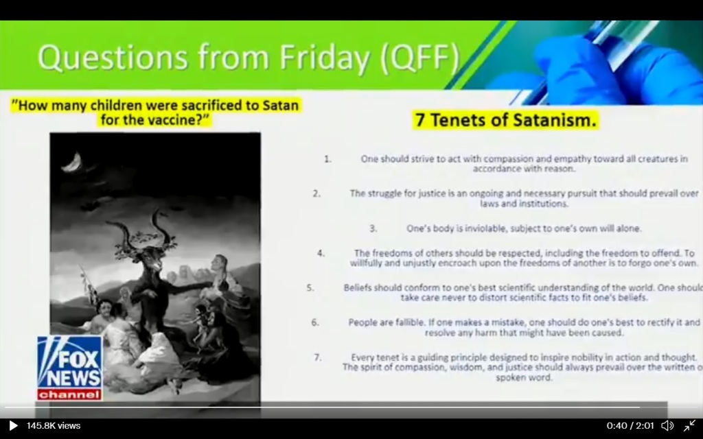 Forced Covid - 7 tenets of satanism